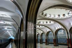 Mayakovskaya, Metro, Moskau