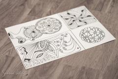 4 kleine Bilder für Karten – Blumen